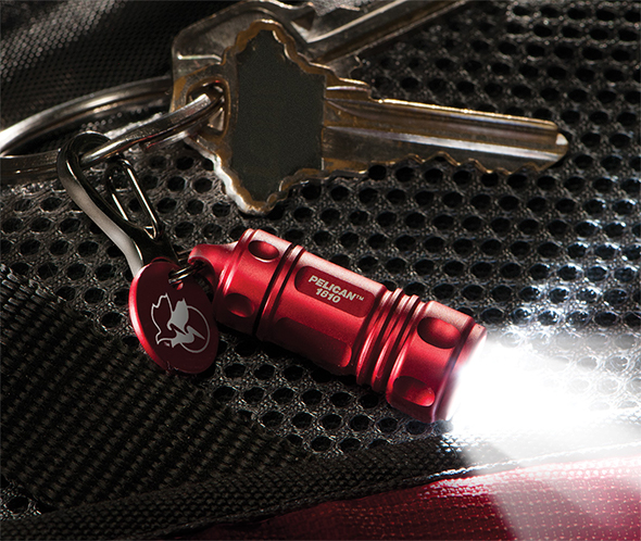 Pelican 1810 Keychain LED Flashlight with Keys for Scale