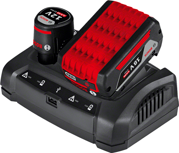 Bosch Multi-Voltage Battery Charger with Battery Packs