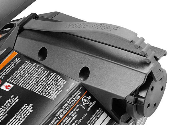 Ridgid 18V cordless 1 gallon compressor cord wrap close up