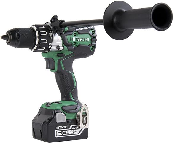 Hitachi DV18DBL2 18V Brushless Hammer Drill with Aux Handle