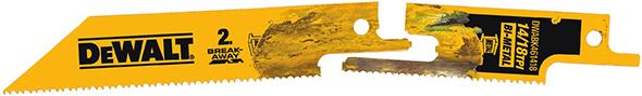 Dewalt DWABK461418 Break-Away Reciprocating Saw Blade Separated