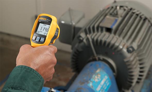 Fluke 64 Max IR Thermometer Measuring Motor Temperature