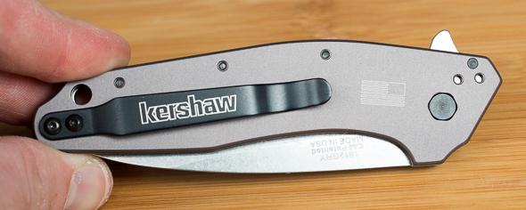 Kershaw Dividend Knife Back with Pocket Clip