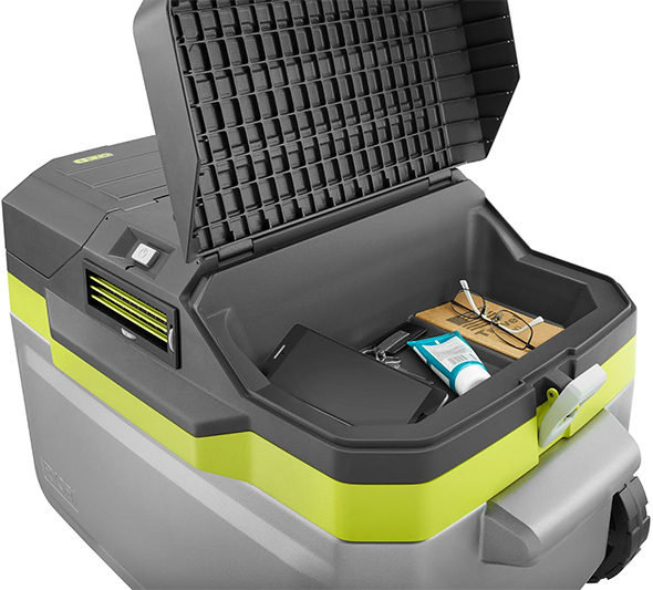 Ryobi Air Conditioned Cooler Storage Compartment