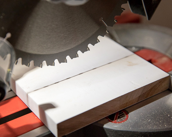Milwaukee M18 Fuel Compact Sliding Miter Saw Shadow Cut Line Guidance
