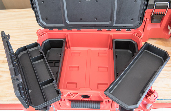 Milwaukee Packout Small Tool Box with Empty Organizer Bins