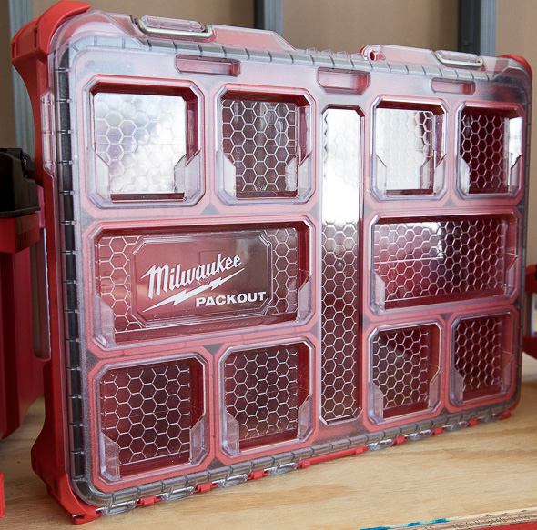 Milwaukee Packout Tool Storage Large Organizer Standing Vertically