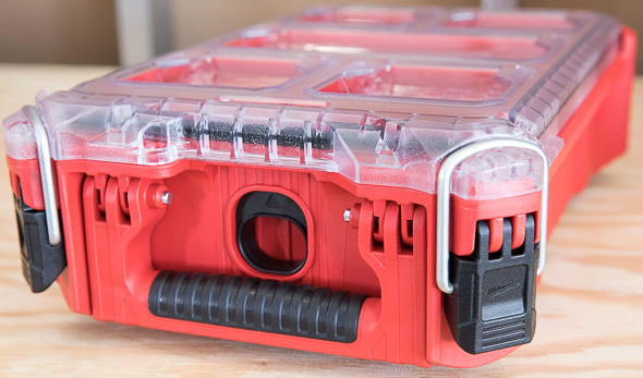 Milwaukee Packout Tool Storage Small Organizer Front Handle and Locks