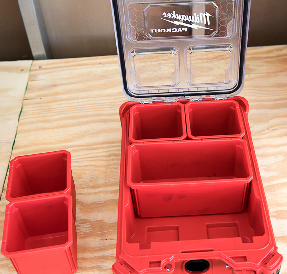 Milwaukee Packout Tool Storage Small Organizer Removable Bins