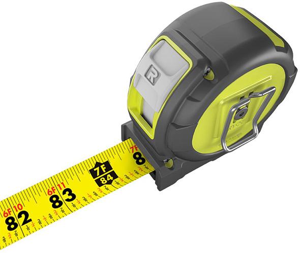 Ryobi 25-foot Tape Measure Markings