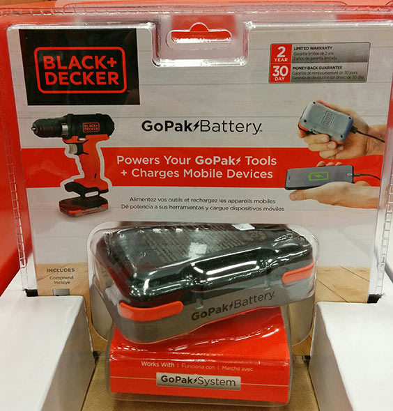 Black and Decker GoPak Battery at Lowes