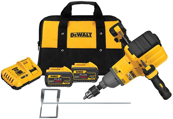 Dewalt FlexVolt 60V Max Dual Handle Paddle Mixer kit includes