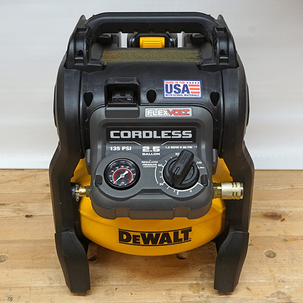 Dewalt Flexvolt Cordless Compressor Product Shot