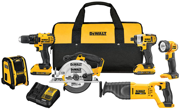 Dewalt 20V Max 6-Tool Cordless Power Tool Combo Kit DCK620D2