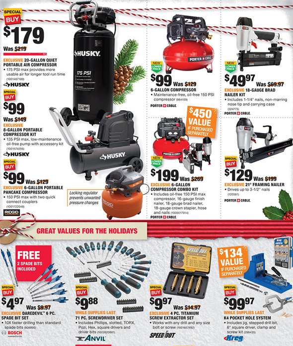 Home Depot Black Friday 2017 Tool Deals Ad Page 13