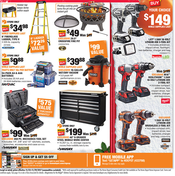 Home Depot Black Friday 2017 Tool Deals Ad Page 2