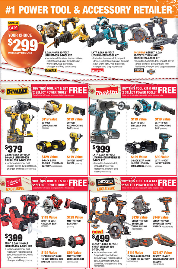 Home Depot Black Friday 2017 Tool Deals Ad Page 3