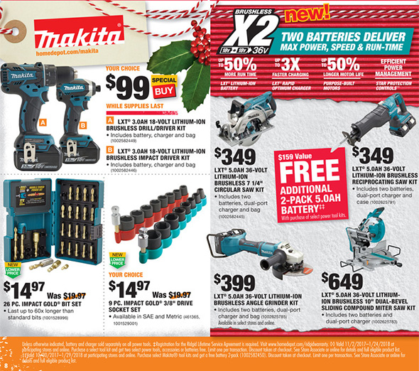 Home Depot Black Friday 2017 Tool Deals Ad Page 4