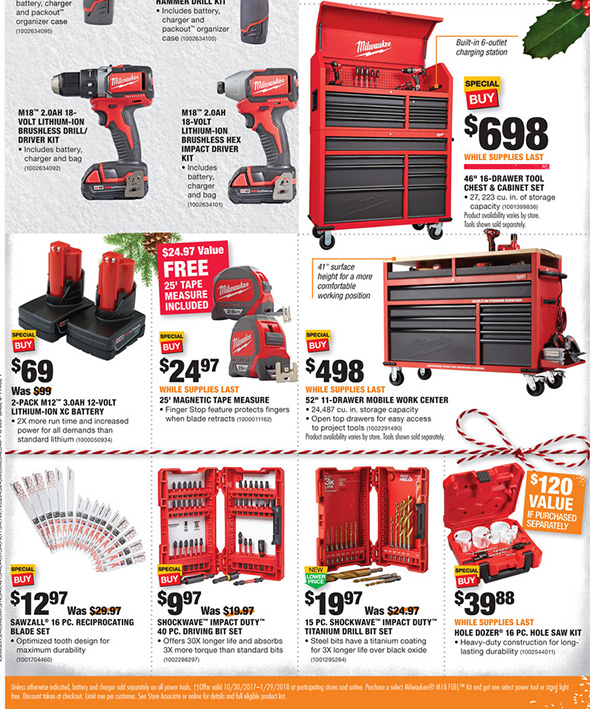 Home Depot Black Friday 2017 Tool Deals Ad Page 6