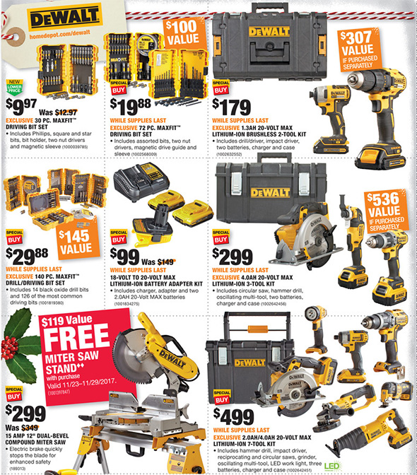 Home Depot Black Friday 2017 Tool Deals Ad Page 7