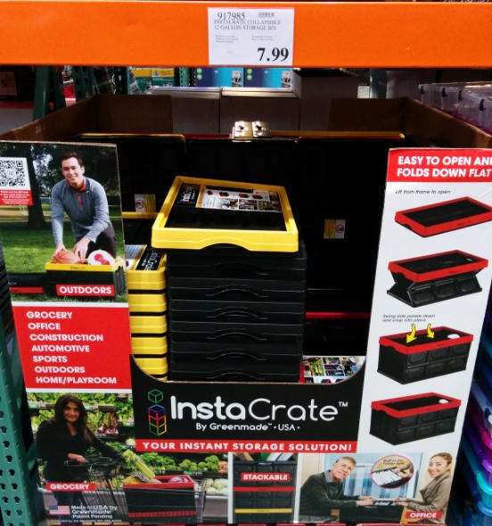 Instacrate collapsible storage bin at Costco