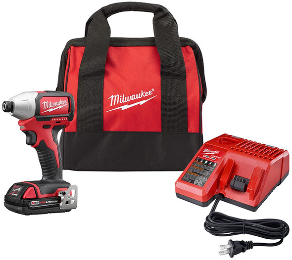 Milwaukee M18 Compact Brushless Impact Driver Promo Kit