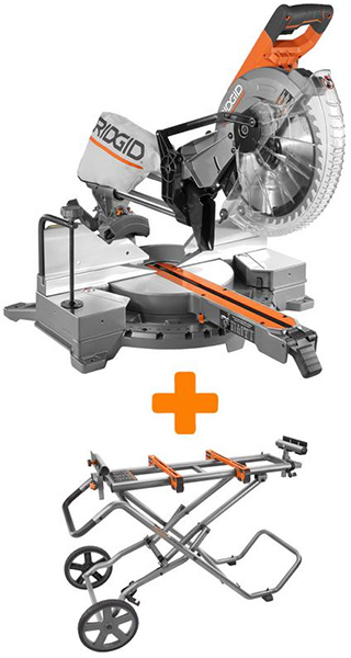 Ridgid Miter Saw with Roller Stand