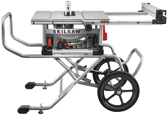 Skilsaw SPT99 Worm Drive Table Saw with Large Roller Stand