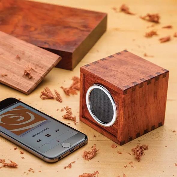 Rockler Bluetooth Speaker Kit Finished Project