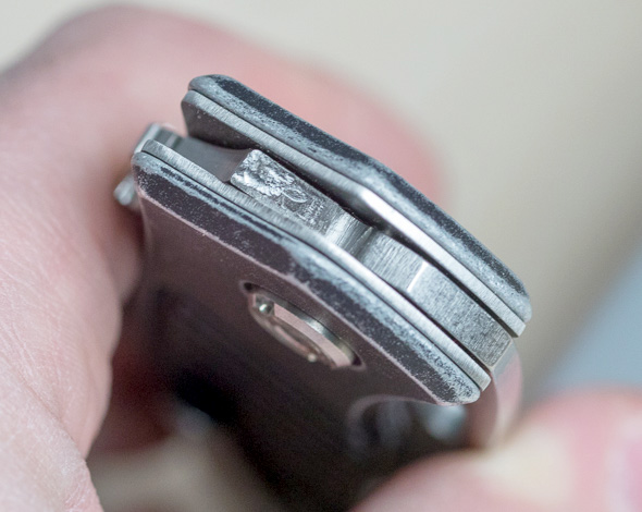 Buck Inertia Knife Blade Locking Area