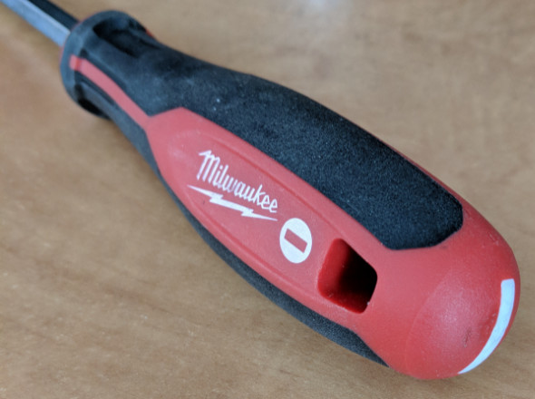 Marking on the Milwaukee Trilobed Screwdrivers