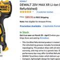 Refurbished Dewalt Cordless Drill