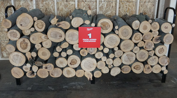 Face Cord of Firewood cut by M18 Chainsaw