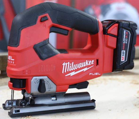 Milwaukee M18 D-Handle Jigsaw left side