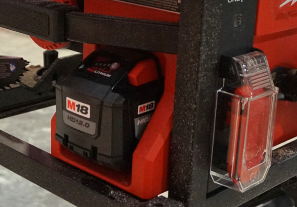 Milwaukee M18 Fuel table saw battery box