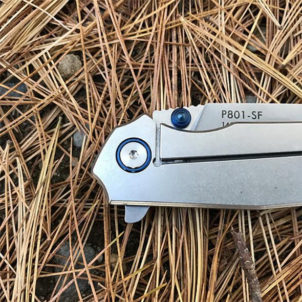 Ruiko P801 Folding Knife Handle Chamfering and Lockbar