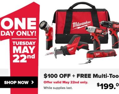 Tool Nut Milwaukee M12 Cordless Combo Kit Deal