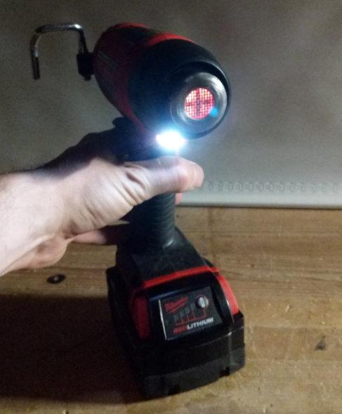 Milwaukee Heat Gun LED light