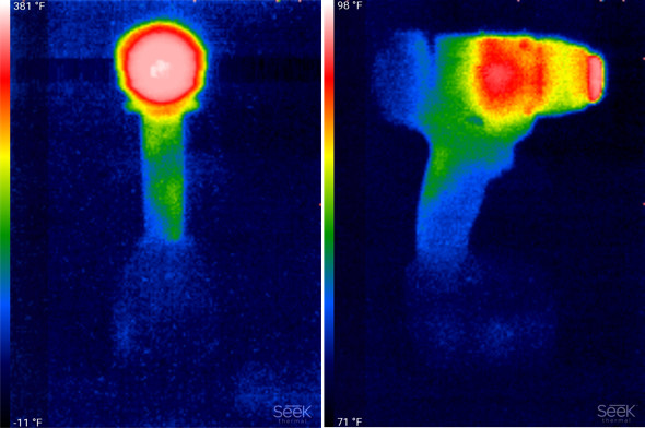 Milwaukee Heat Gun Thermal Photo after 90 seconds