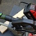 Festool Hose and Dust Extractor Remote Connected to Milwaukee M18 Fuel Cordless Miter Saw