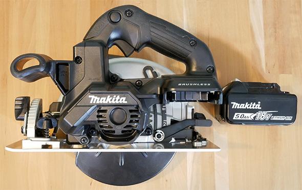 Makita XSH04ZB 18V Sub-Compact Brushless Circular Saw Side View