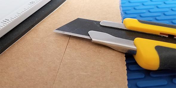 Olfa Knife Cutting Adhesive Backed Textured Rubber Sheet