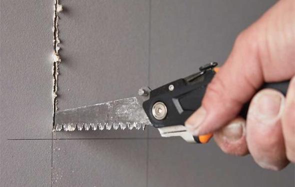 Fiskars Pro Drywallers Utility Knife Jab Saw