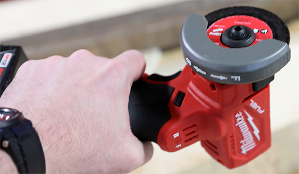 Milwaukee M12 Fuel Cut-Off Tool One-Handed Grip