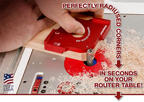 Woodpeckers Radius Quick Jig One Time Tool Set