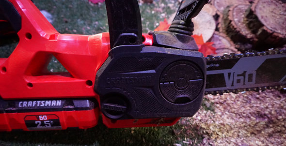 Craftsman V60 Chainsaw Chain Adjustment Side