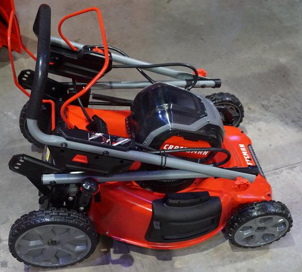 Craftsman V60 Self Propelled Lawn Mower Folded