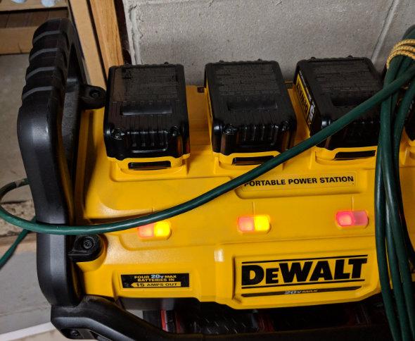 Dewalt batteries too hot to charge