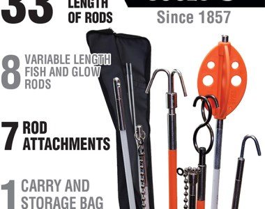 Klein Splinter Guard Fish and Glow Rod Kit Components