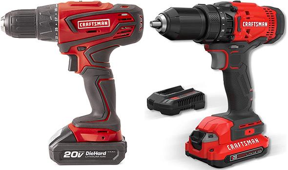 Sears vs SBD Craftsman Cordless Power Tools